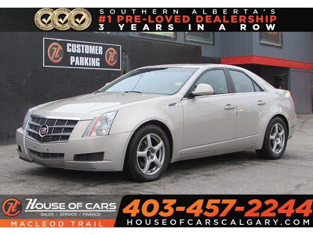Pre Owned 2009 Cadillac Cts 3 6l W 1sb Awd Leather Seat