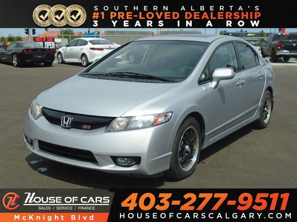 Used Honda Civic Si >> Pre Owned 2010 Honda Civic Si Six Speed Manual I Vtec Sedan In