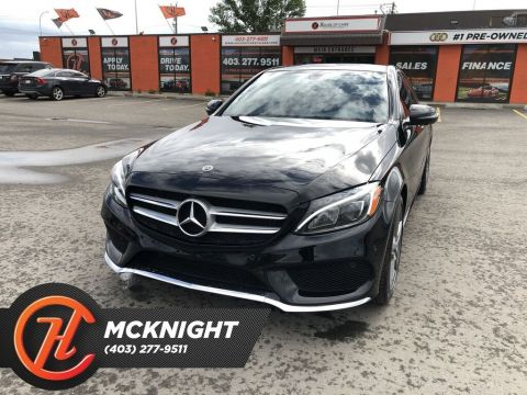 Pre-Owned 2018 Mercedes-Benz C-Class 4MATIC / Leather / Sunroof / Cam / Navi