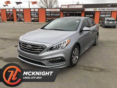 Pre-Owned 2016 Hyundai Sonata Sport Tech / Leather / Sunroof / Navi / Cam