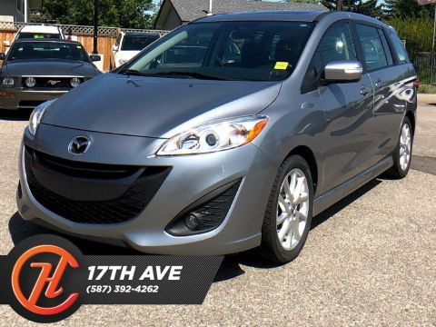 Pre-Owned 2017 Mazda5 GT / Leather / Sunroof / Heated seats